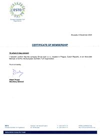 Envos-ESTO-certifikat